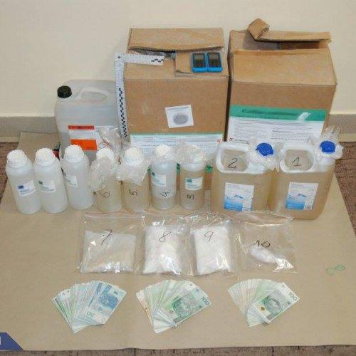 Policjanci CBŚP udaremnili wprowadzenie na rynek 18 kilogramów amfetaminy